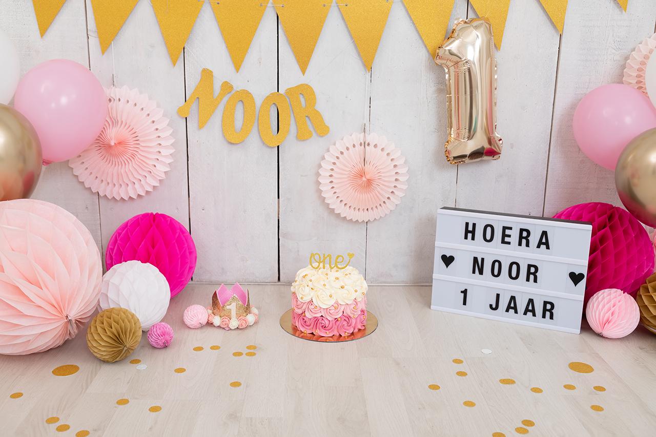 Fotografie Ine cakesmash roze met goud Noor