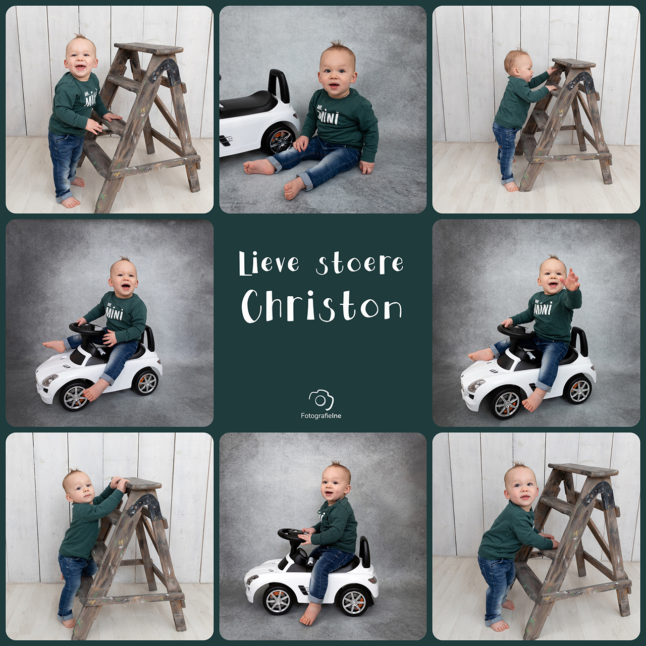 Fotografie Ine Lieve stoere Christon trap auto mercedes