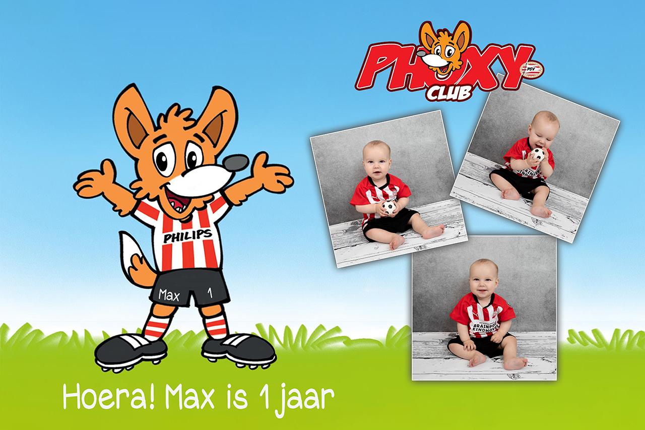Fotografie Ine Phoxy club Max 1 JAAR philips PSV junior babyclub site
