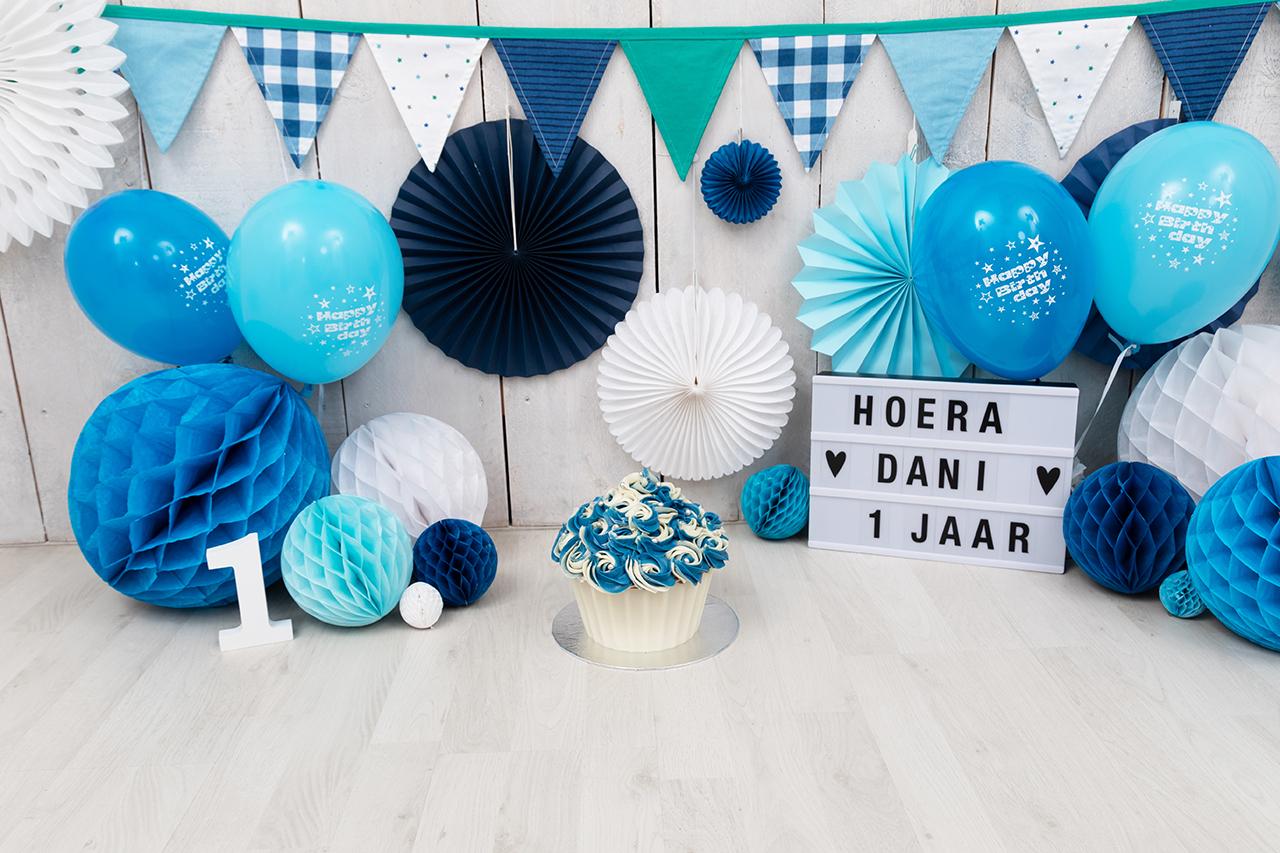 Fotografie Ine cakesmahs blauw lichtblauw ballonnen Dani