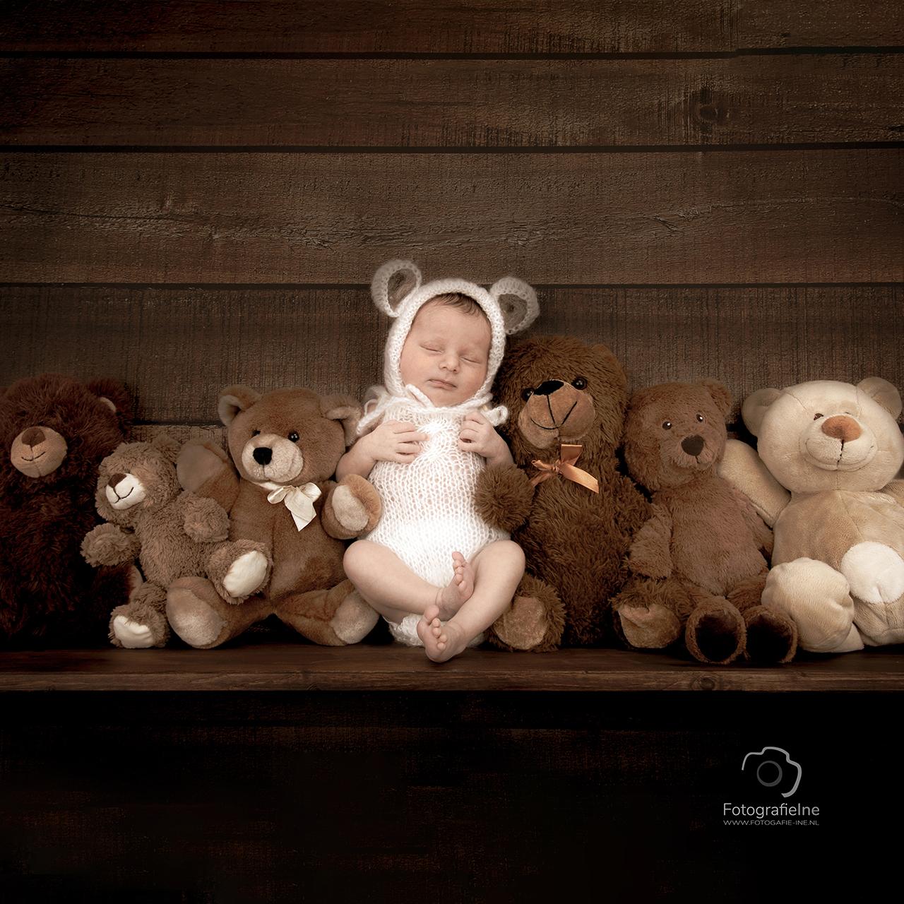 Fotografie Ine newborn fotoshoot beertje plank