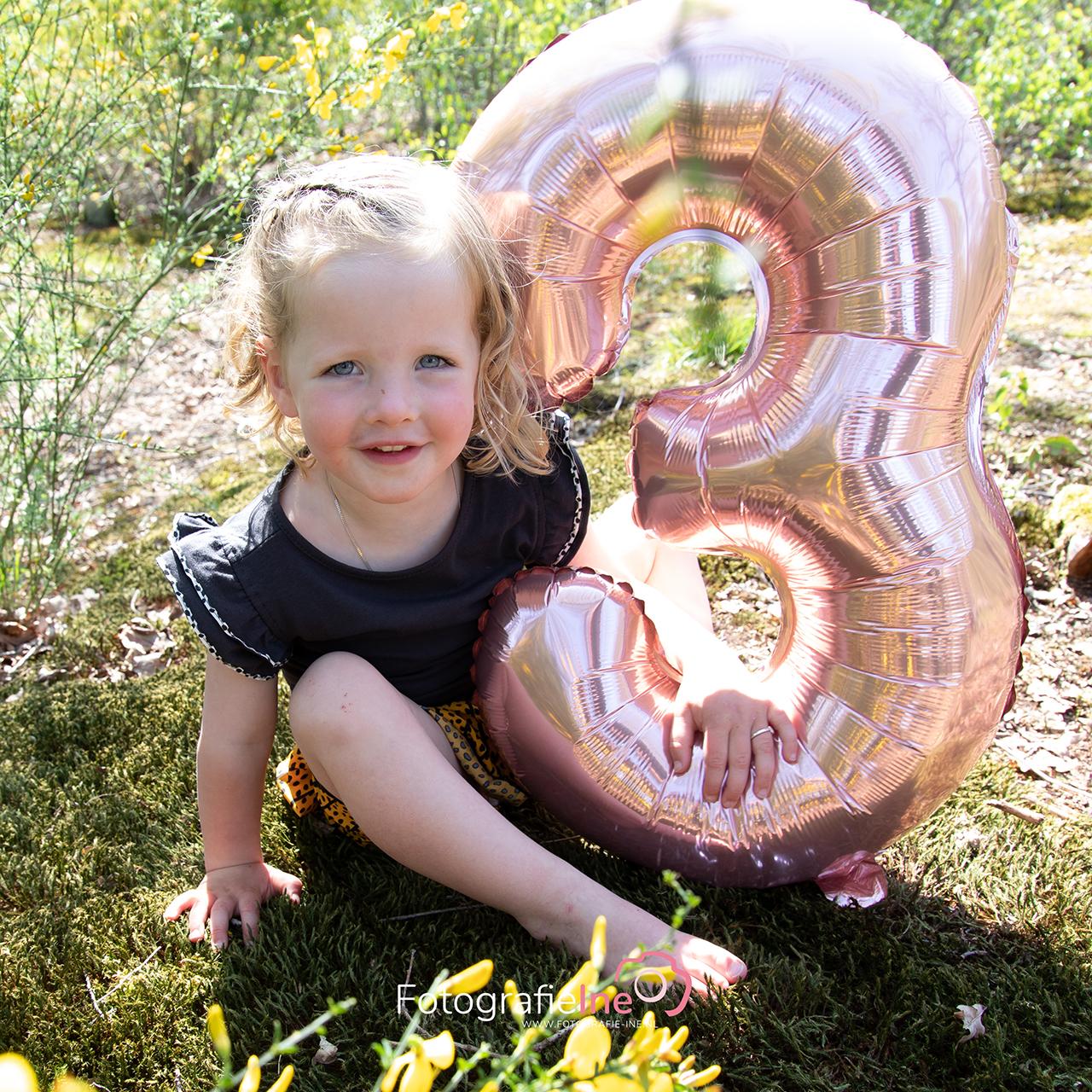 Fotografie Ine Verjaardag shoot 3 jaar Fleur van der Velden